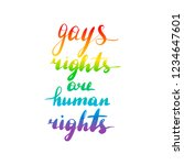 gays rights are human rights.... | Shutterstock .eps vector #1234647601