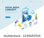 modern flat design isometric... | Shutterstock .eps vector #1234655524
