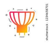 light bulb icon. lamp gu5.3...   Shutterstock .eps vector #1234658701