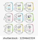infographic timeline set of...   Shutterstock .eps vector #1234661524