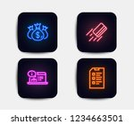 neon set of online... | Shutterstock .eps vector #1234663501