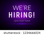 we are hiring career employee... | Shutterstock .eps vector #1234666024
