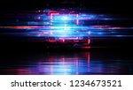 led light. abstract effect.... | Shutterstock . vector #1234673521