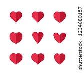 heart icons  symbols of love | Shutterstock .eps vector #1234680157