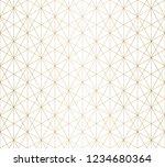 golden lines pattern. vector... | Shutterstock .eps vector #1234680364
