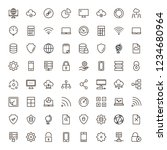 databse icon set. collection of ... | Shutterstock .eps vector #1234680964