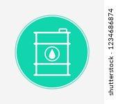 barrel vector icon sign symbol | Shutterstock .eps vector #1234686874