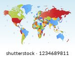 world map vector | Shutterstock .eps vector #1234689811