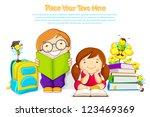 vector illustration of kids...   Shutterstock .eps vector #123469369