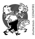 square dancing couple   retro... | Shutterstock .eps vector #123469381