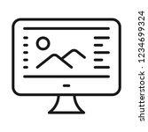 computer graphics icon. design... | Shutterstock .eps vector #1234699324