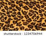 vintage leopard background.... | Shutterstock . vector #1234706944