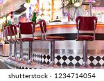 Old Fashioned Red Bar Stools I...