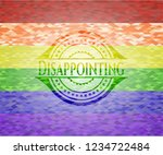 disappointing lgbt colors... | Shutterstock .eps vector #1234722484