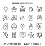 creativity  bold line icons.... | Shutterstock .eps vector #1234740817
