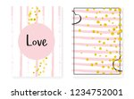bridal shower set with dots and ... | Shutterstock .eps vector #1234752001