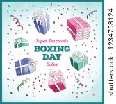 happy boxing day sale design... | Shutterstock .eps vector #1234758124