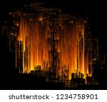 led light. abstract effect.... | Shutterstock . vector #1234758901