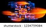 led light. abstract effect.... | Shutterstock . vector #1234759084