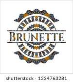 brunette arabesque style badge. ... | Shutterstock .eps vector #1234763281