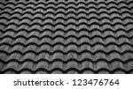 Red Tiles Roof Background Black ...