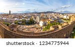 panoramic cityscape view of... | Shutterstock . vector #1234775944