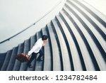 successful businessman running...   Shutterstock . vector #1234782484