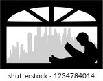 silhouette of people with a...   Shutterstock .eps vector #1234784014