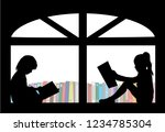 silhouettes of people with a... | Shutterstock .eps vector #1234785304