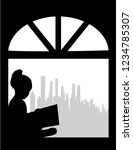 silhouette of people with a...   Shutterstock .eps vector #1234785307