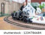 holiday model train display... | Shutterstock . vector #1234786684
