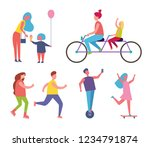 family happy mother and child... | Shutterstock .eps vector #1234791874