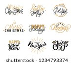 merry christmas  holly jolly... | Shutterstock .eps vector #1234793374
