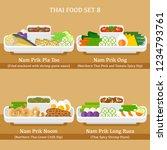 thai food icon set   vector... | Shutterstock .eps vector #1234793761