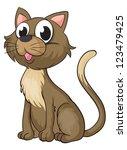 Illustration Of A Smiling Cat...