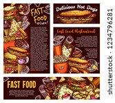 fastfood menu banners  vector... | Shutterstock .eps vector #1234796281