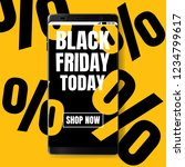 black friday sale poster today... | Shutterstock .eps vector #1234799617