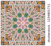 decorative colorful mandala... | Shutterstock .eps vector #1234801711
