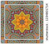 decorative colorful mandala... | Shutterstock .eps vector #1234801714