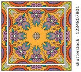 decorative colorful mandala... | Shutterstock .eps vector #1234807801