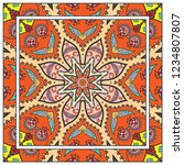 decorative colorful mandala... | Shutterstock .eps vector #1234807807