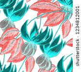 creative seamless pattern with... | Shutterstock . vector #1234812001