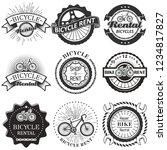 bike rental badge label logo... | Shutterstock .eps vector #1234817827