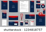 corporate identity set.... | Shutterstock .eps vector #1234818757