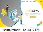 Fake News Landing Page Website...