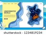 underwater world landing page... | Shutterstock .eps vector #1234819234