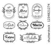 badges logo template for... | Shutterstock .eps vector #1234821274