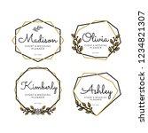 luxury geometric logo templates ... | Shutterstock .eps vector #1234821307