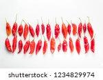 peruvian hot pepper called limo ... | Shutterstock . vector #1234829974