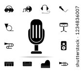 microphone icon. music icons...